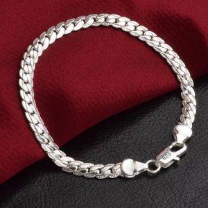 NEW 925 Sterling Silver Snake Chain Bracelet